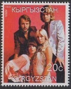 ABBA legendären schwedischen Pop Musik Gruppe Kirgisistan 1999 MNH Stamp