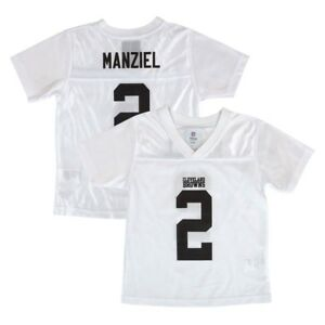 Hot Johnny Manziel Cleveland Browns NFL White Replica Jersey Toddler (2T  for sale