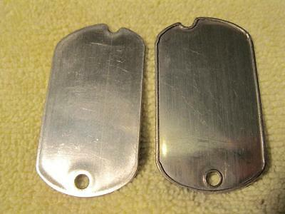 DOG TAGS VINTAGE NOTCHED US GENUINE ISSUE 1961 DEBOSSED YOUR INFO W//GI MACHINE