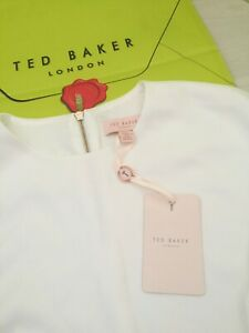 Blouse Size New Rrp Ladies Lined Cream Uk 4 Baker £99 14 Ted O1CgqxwIXn