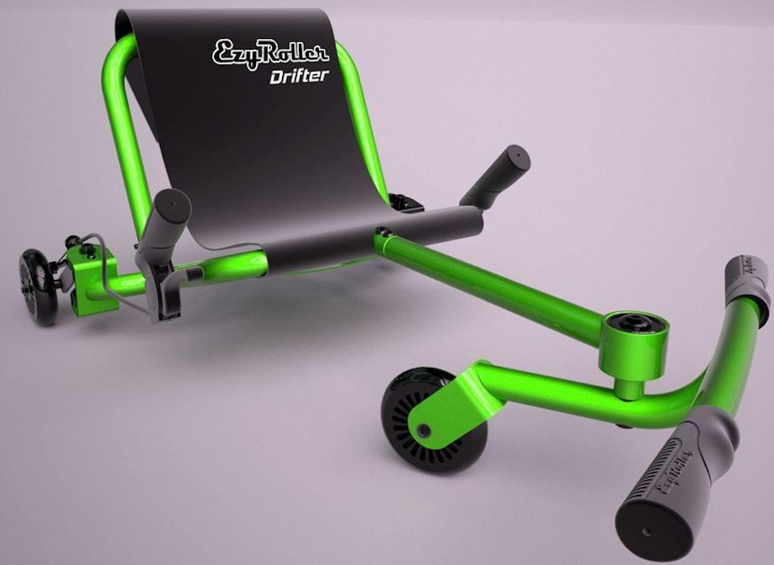 Ezy Roller Drifter niños 3 rueda paseo en la máquina definitiva Equitación Ezyroller Verde