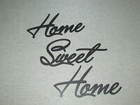 Home Sweet Home Script Wood Wall Words Art Accents Decor