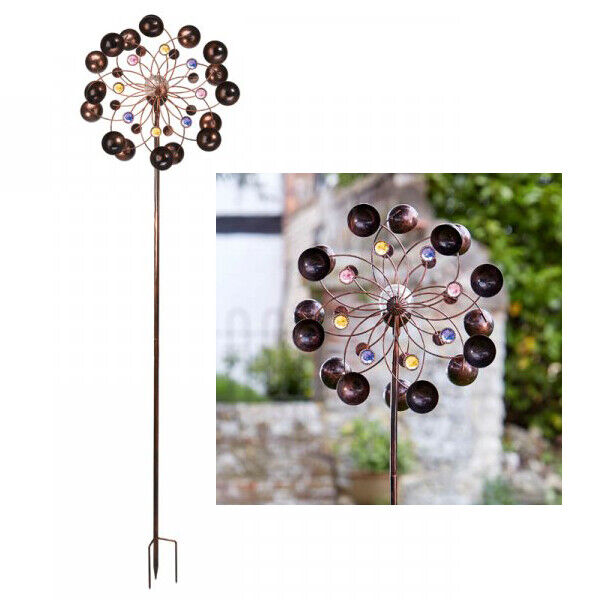 Solar Powered Colour Changing Saturn Wind Spinner Light Hanging Garden Outdoor L