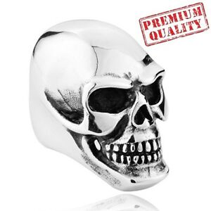 Vintage-Men-039-s-Ring-Skull-Punk-Titanium-Steel-Stainless-Steel-Ring