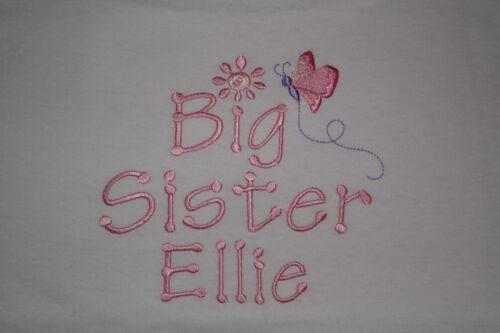 Big Brother Sister T-shirt ou je vais être Butterfly//Football Personnalisé
