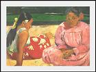 STAMPA D'ARTE - FEMMES DE TAHITI o SUR LA PLAGE - PAUL GAUGUIN - CM. 38,5 X 29