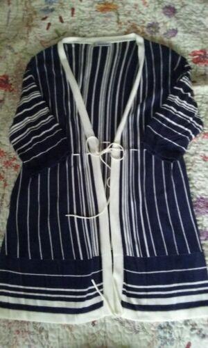 bianche cravatta Kaleidoscope e Cardigan a a 14 blu righe TWaOSq