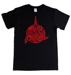 KLINGON-SYMBOL-T-shirt-S-5XL-logo-bird-of-prey-star-trek-emblem-2-3-4-XL