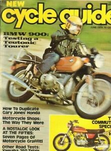 1974 June Cycle Guide Motorcycle Magazine Back Issue Bmw Ebay
