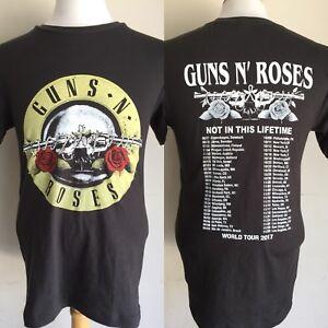 Guns N Roses 2017 No En Este De Por Vida Nos Fechas Gira De Conciertos T Shirt Small Ebay