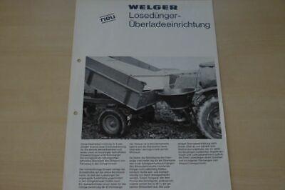 Welger Prospekt 05/1972 Punctual Timing Überladeeinrichtung 199976