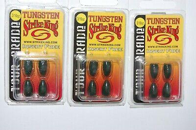 strike king tungsten worm weights 1//4oz watermelon red flak tour grade tgtw14-18