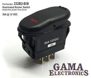B Amp B Portmeirion ... 30 Amp DPDT 2 Position On-On Rocker Switch - 232B2-B/B   eBay