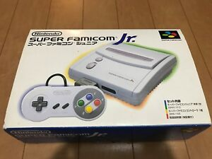 SNES-Super-Famicom-Jr-Japan-Edition-Gray-Console-with-BOX-and-Manual