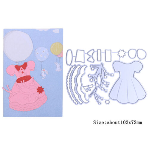 Girl/'s Dress Metal Cutting Dies Stencil Handcrafts Album Embossing Card Making