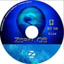 Zorin 9 CORE LTS 32 bit Laptop Desktop  PC Linux Complete Operating System DVD