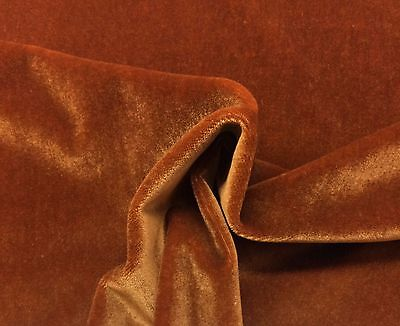 """BEACON HILL PLUSH MOHAIR MINK BROWN WOOL VELVET UPHOLSTERY FABRIC BY YARD 55/""""W"""