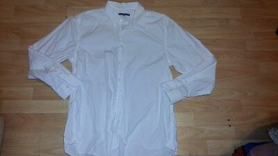 White long sleeve button down shirt White casual long sleeve button up top XL