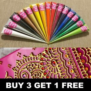 Acrylic Henna Paint Cones Mehndi Candles Canvas Hand Made Gifts Art
