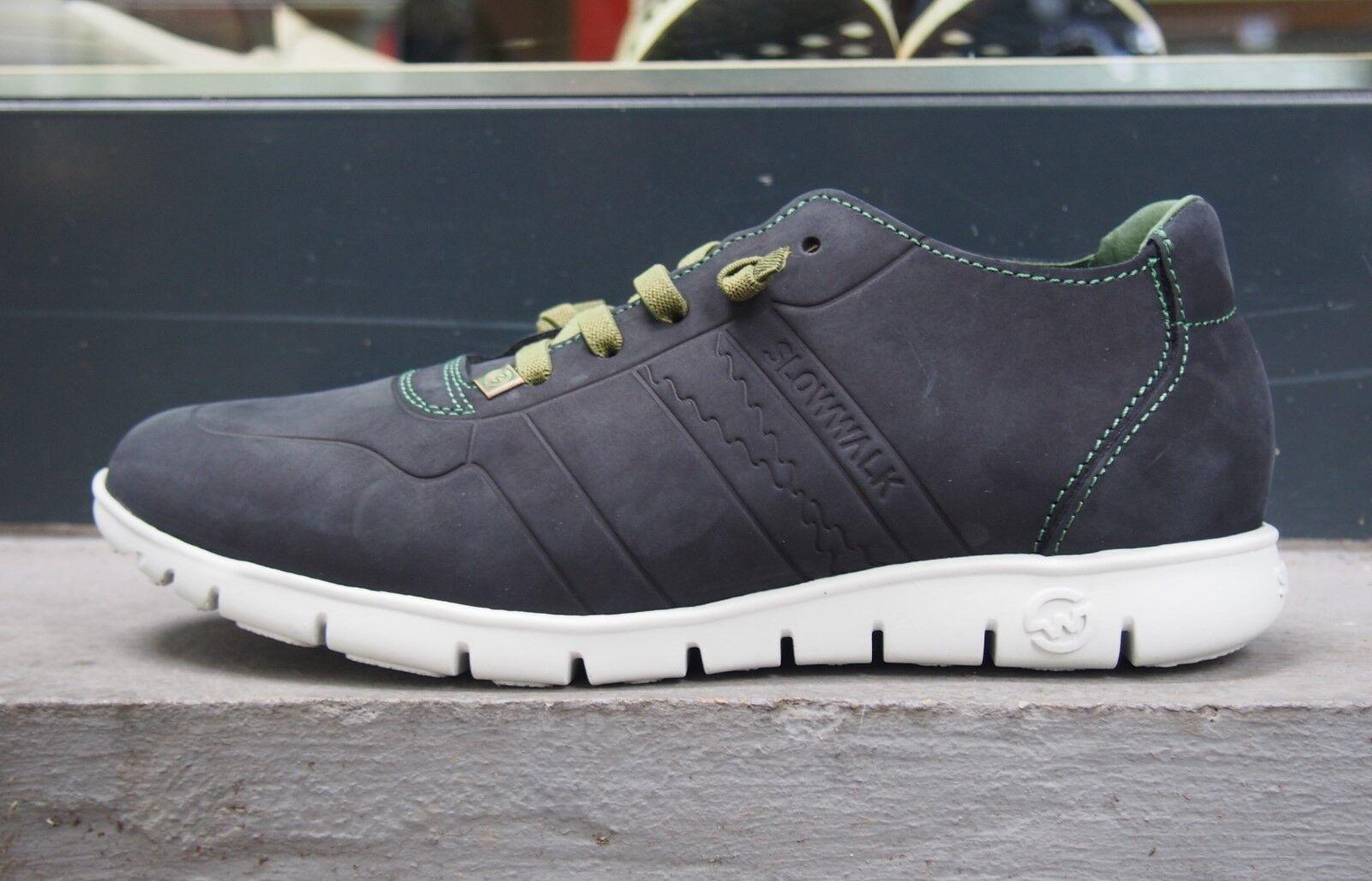 Slowwalk Schuhe Morvi 10360 Nobuck Plain Black Herrenschuhe Echtleder Halbschuhe