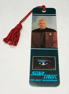New-Star-Trek-TNG-Captain-Jean-Luc-Picard-Bookmark-1991-The-Next-Generation