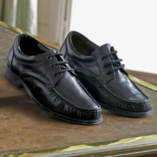 Mens Shoe Smart Casual Lace-up Genuine Leather Hand Stitched /& Glued Sole NEW
