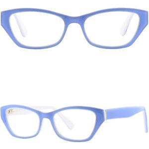 78c4feec5e5 Image is loading Cateye-Womens-Acetate-Plastic-Frames-Prescription-Glasses- Sky-