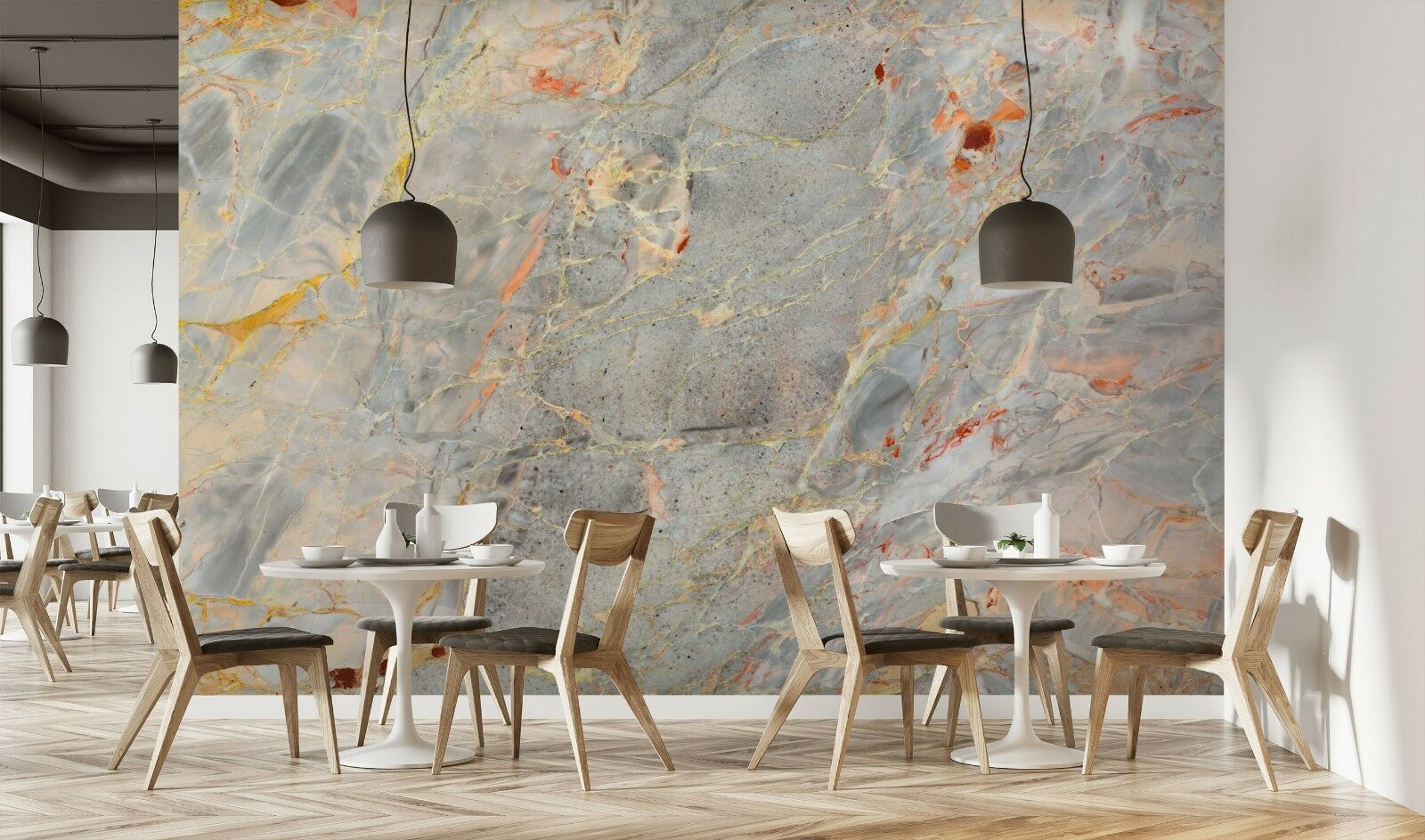 3D Hot Modern Marble 3 Texture Tiles Marble Wall Paper Decal Wallpaper Mural AJ