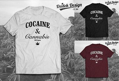 Cocaine Caviar & Crooks Funny Cannabis T Shirt Weed Marijuana Addicted Ganja 420