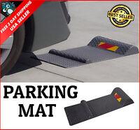 Auto Parking Mat Guide Garage Floor Park Vehicle Stop Safety Aid Anti-skid Black