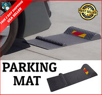 Auto Parking Mat Guide Garage Floor Park Vehicle Stop Safety Aid Anti-skid Black