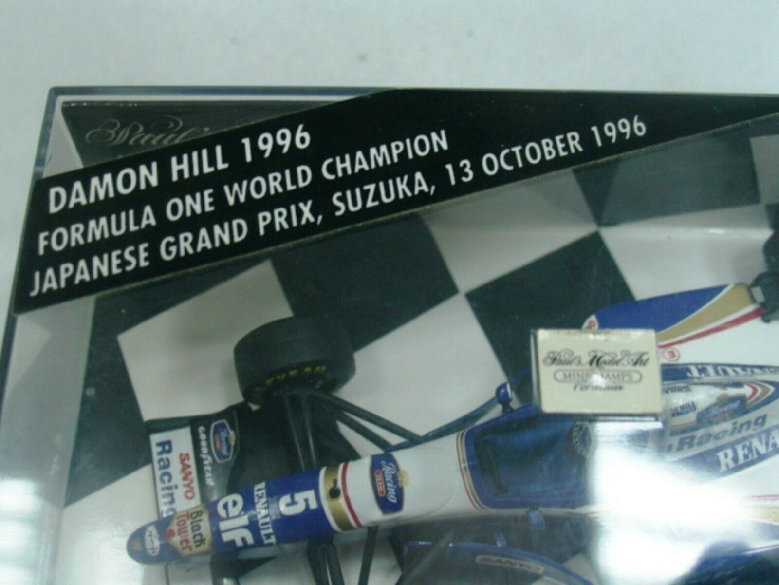 WOW EXTREMELY RARE Williams FW18 Hill Winner Japan 1996 & WC 1 43 Minichamps