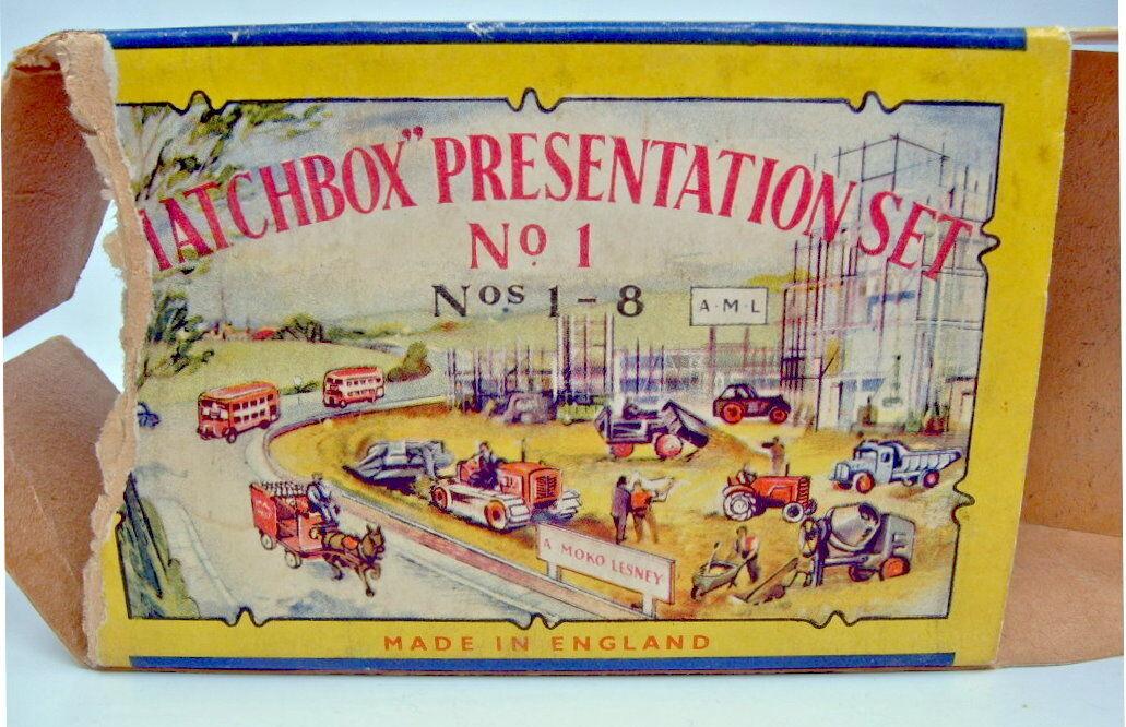 MATCHBOX  presentation set no. 1  usa 1957 complet, extrêmement rare