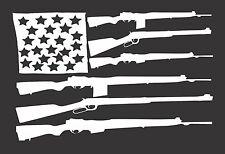 Flag Guns USA -  Die Cut Vinyl Window Decal/Sticker for Car/Truck