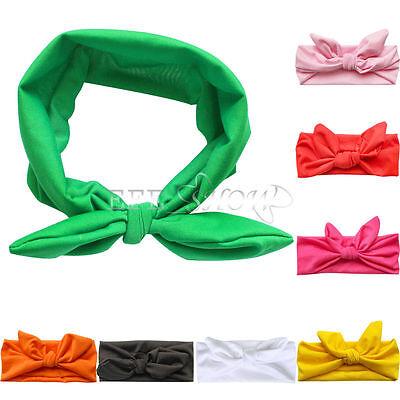 Girl Baby Toddler Bowknot Headband Hair Stretch Rabbit Bow Headwear Turban Knot