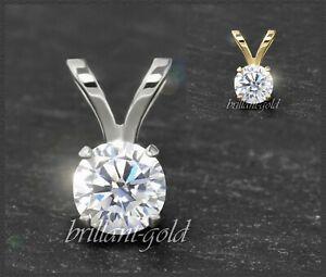 Brillant-Anhaenger-Damen-585-Gold-Diamant-0-10-0-25ct-River-Lupenrein-NEU