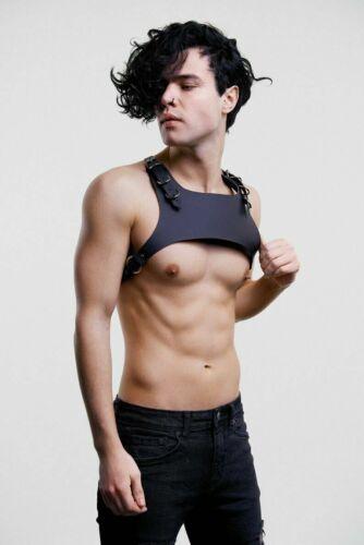 Men's' Leather Harness Punk Chest Harness BDSM Shoulder to Body Bondage belt