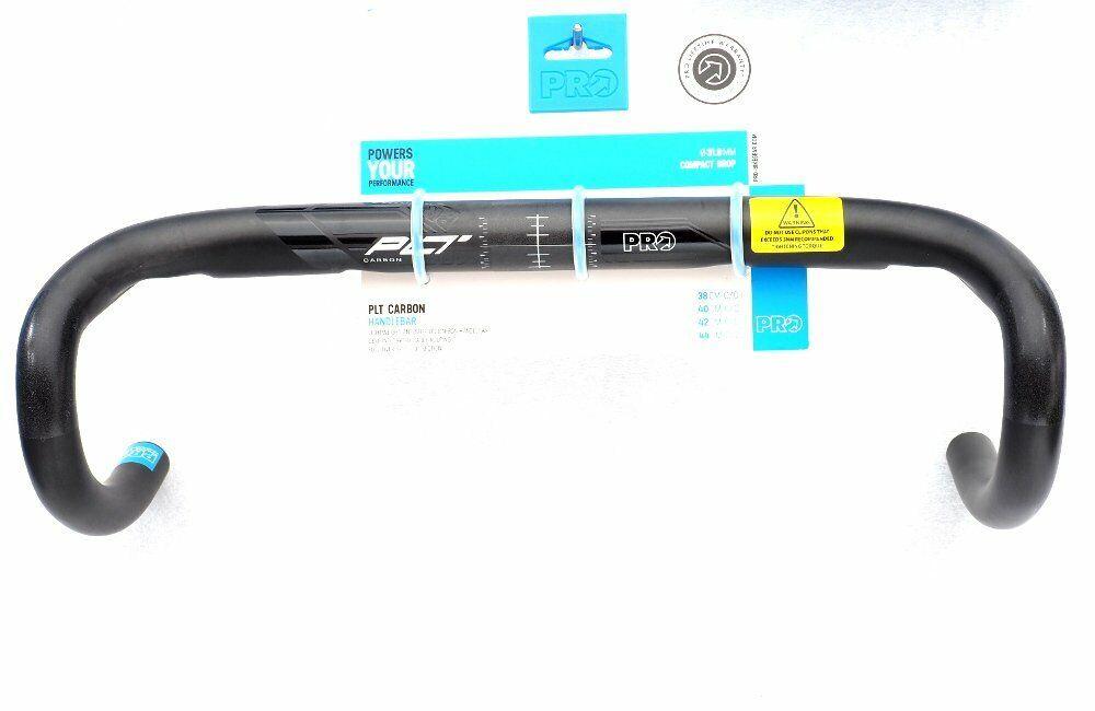Shimano Pro Plt Carbono Manillar Bicicleta con barra, Compacto, Negro, 31.8mm X 44cm