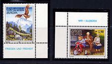 YUGOSLAVIA 1995 EUROPA BIRD EAGLE SCOTT 2293-94