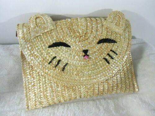 Main Paille Chat Pinup Tête Original À Rétro Sac Pochette De Vintage Kitty w5xqIzST