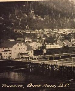 Postcard-Townsite-Ocean-Falls-Paper-Mill-B-C-Canada-Vintage-P36