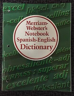 Merriam-Webster's Notebook Spanish-English Dictionary 3 Hole Punched for  binder! 9780877796725 | eBay