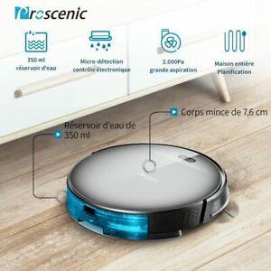 Proscenic-800T-Alexa-robot-aspirateur-laveur-eau-Nettoyeur-Balayeuse-mur-virtuel