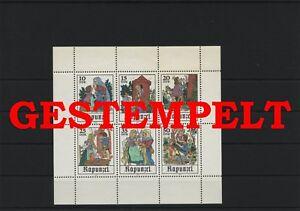 Germany-GDR-vintage-yearset-1978-Mi-2382-2387-Sheetlet-Postmarked-Used