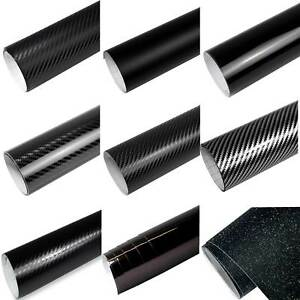6-57-m-Auto-Folie-SCHWARZ-3D-4D-5D-Carbon-Folie-GLANZ-MATT-Folie-Blasenfrei