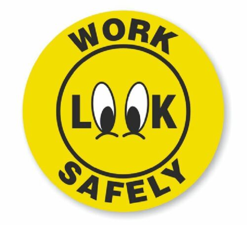 Work Safely Hard Hat Decal Hardhat Sticker Helmet Label H204