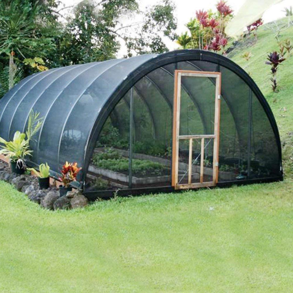 Large 6X100ft New Design 50%UV Black Outdoor Garden Canopy S