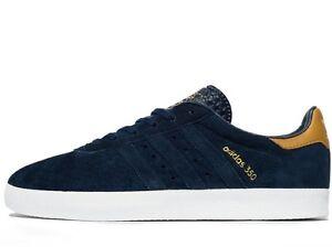 Adidas Originals 350 Uomini Tutte Le Taglie Blu Navy MESA in pelle scamosciata Calcio Casual