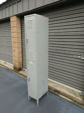 Vtg 1x2 Tall Industrial School Office Lyon Metal Storage Utility Locker Gray