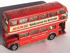 Vintage Corgi Double Decker Bus London Transport Routemaster c6 1968 WITH Driver